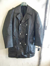 VINTAGE 70,S GERMAN POLICE FORCE DOUBLE BREASTED LEATHER JACKET SIZE XL EU54