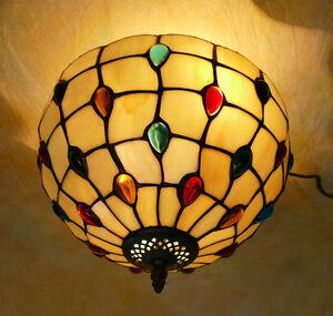 Tiffany-Plafoniere-Deckenlampe-Nuggets-Tiffanylampe-Lampe-TE01-a