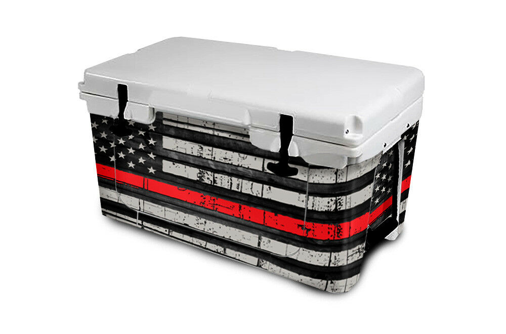 USATuff Cooler Wrap 'Fits New Mold' RTIC 65QT Full Niedriger USA ROT Line Flag