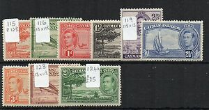 Cayman-Islands-1938-48-vaks-to-2s-MLH-MH