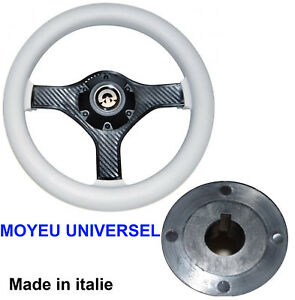Volant-Blanc-280mm-Moyeu-Central-cone-Universel-Bateau