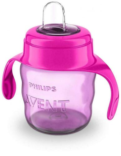 Philips Avent Pink Easy-Sip Soft Silicone Baby Spout Cup Handle BPA 200ml