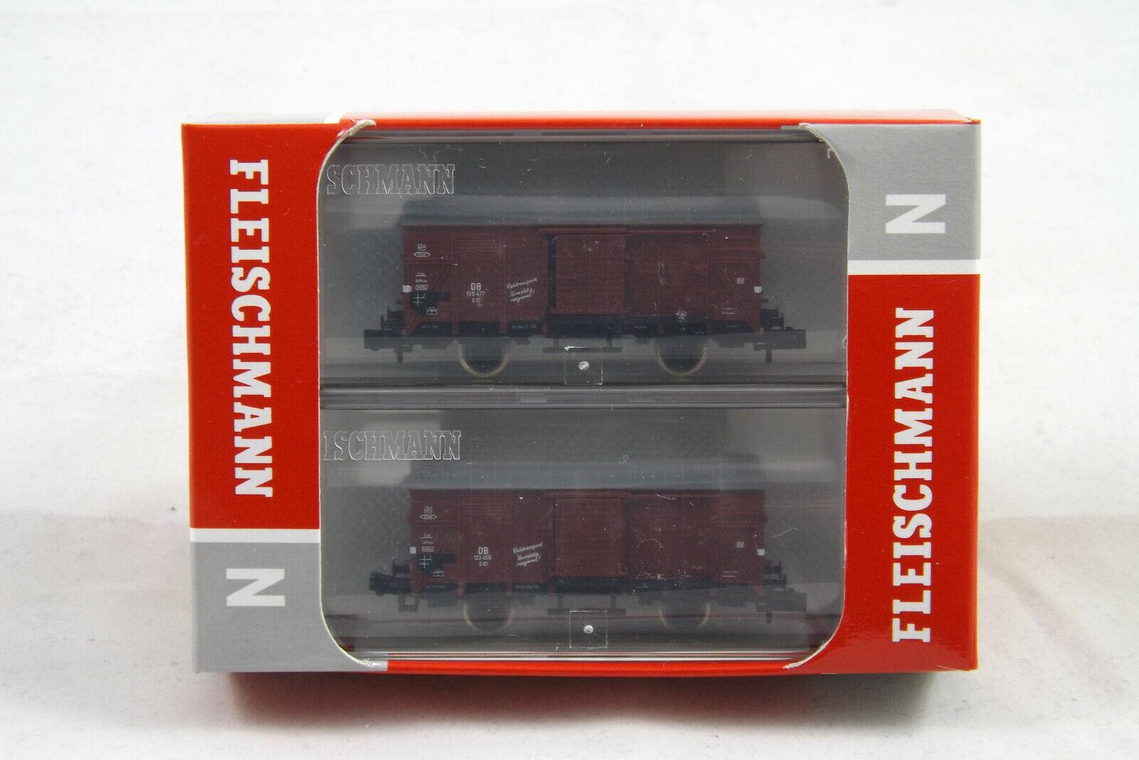 Fleischmann 881804 atravesaba set 2 piezas vagones DB, n, nuevo con embalaje original
