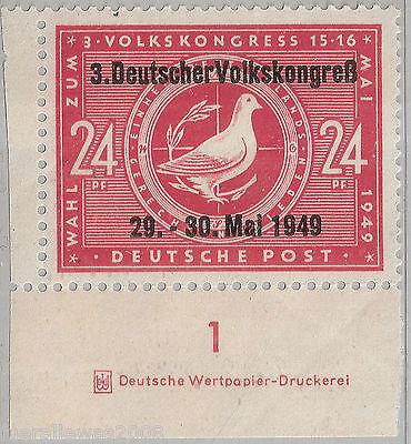 SBZ MiNr. 233 I DZ ** Wahlen zum 3. Volkskongress EUR Marke mit Druckereizeichen