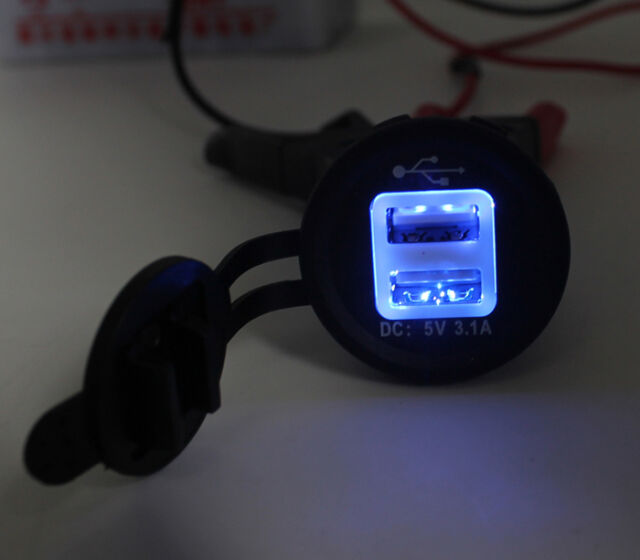 Dual USB Car Cigarette Lighter Socket 12V Charger Power Adapter Outlet Free Ship
