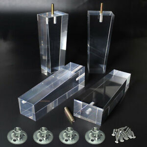 Furniture-Legs-Pack-of-4-Acrylic-Sofa-Legs-Pyramid-4-034-6-034-8-034-Modern-Replacement