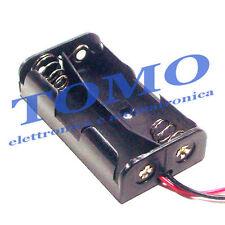 Porta batterie 2 stilo con conduttori BH-321-2A