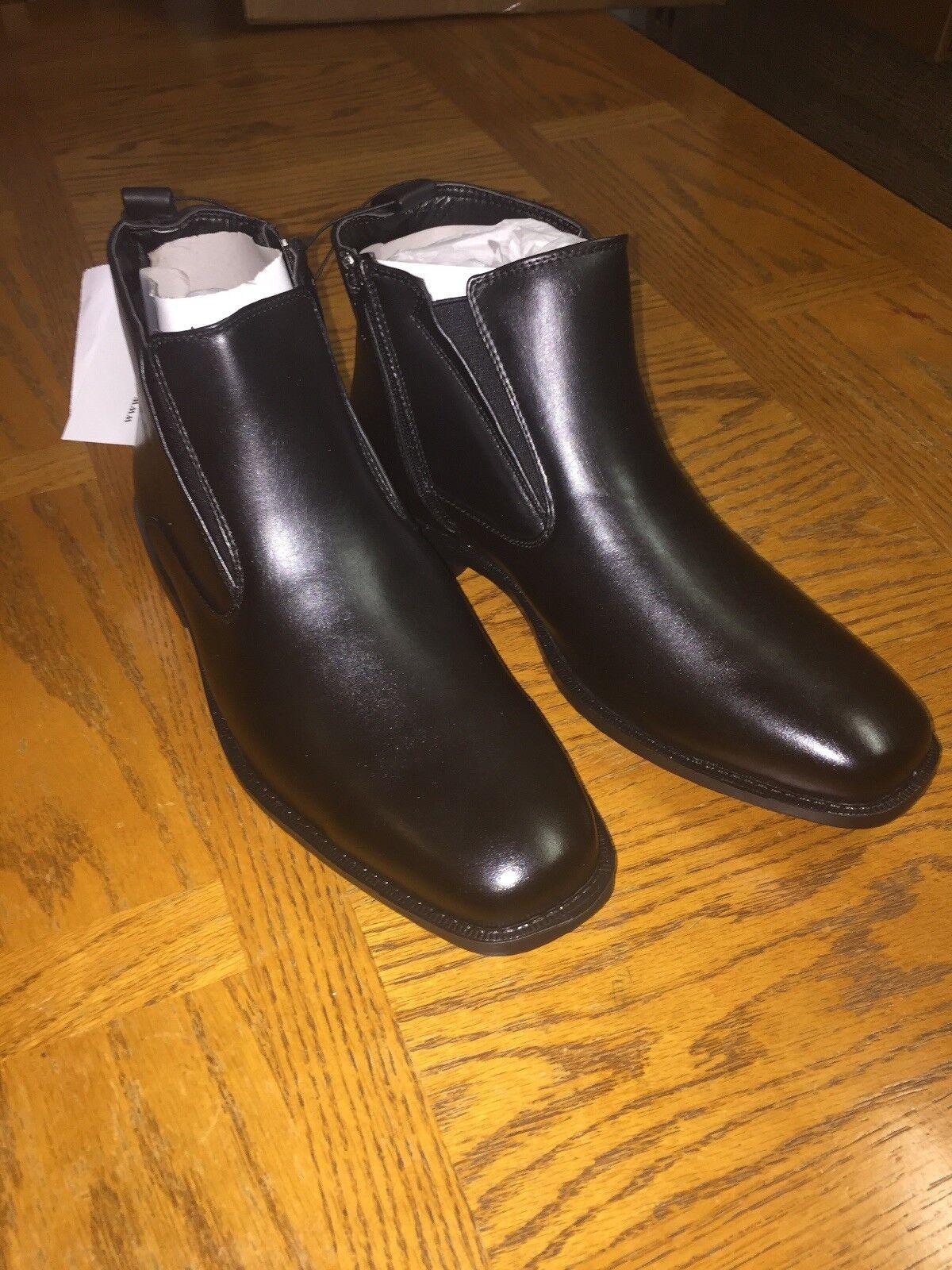 botas al tobillo para Hombre Memory Foam Suave STAGS para hombres D, imitación de cuero negro