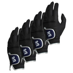 New-DoubleS-Men-039-s-Premium-Microfiber-Fabric-Golf-Glove-Sports-Gloves-4-Pack-Left