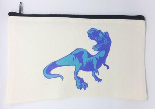 Cotton Canvas Dinosaur Pencil Case
