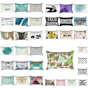 Am-Sofa-Car-Waist-Throw-Pillowcases-Rectangle-Cushion-Cover-Home-Bed-Decor-Sigh