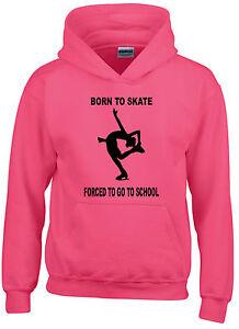 Nacido-Para-Skate-obligados-a-ir-a-la-escuela-Patinaje-Sobre-Hielo-Con-Capucha-Tallas-5-15-anos