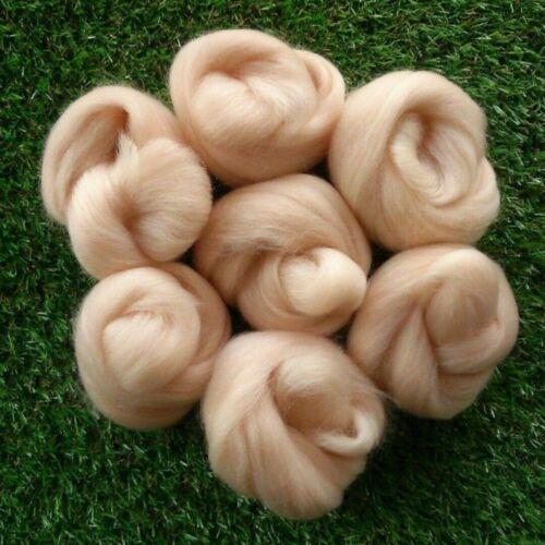 Hellrosa Filzwolle Farbe Märchenwolle Trockenfilzen Schafwolle Filzen Werkzeug