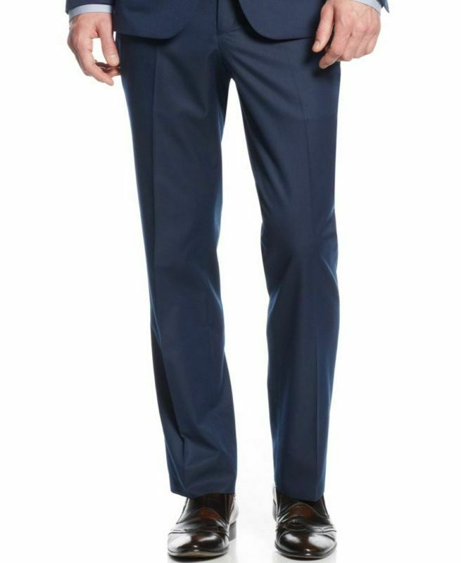 KENNETH COLE 33W X 37L Men's blueE SLIM FIT STRIPE SUIT DRESS TROUSERS PANTS