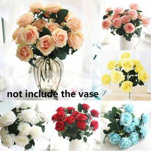 Silk-Bunch-Bridal-Bouquet-Fake-Roses-Wedding-Decoration-Artificial-Flowers