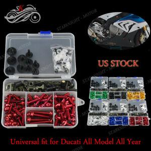 For Ducati Hypermotard 821 2013-2017 Complete Fairing Bolt Kit Body Screws Gold