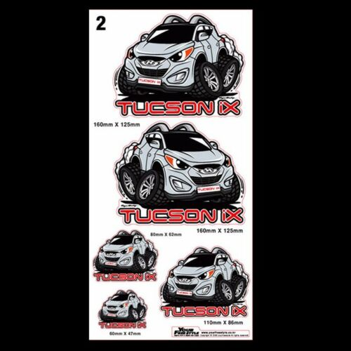 Graphic Decal Character Stickers 8 X 16inch 5Pin 1Sheet for KIA 2008-2013 Soul