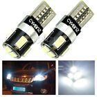 2X CANBUS T10 W5W 6-LED 5630 SMD FPC Wedge Error Free Car White Light Lamp Bulb