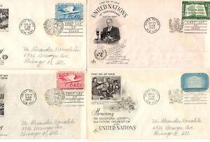 SEVEN 1955 NAZIONI UNITE PRIMO GIORNO DI EMISSIONE