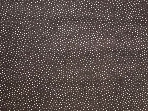Cotton Quilt Fabric Brown White Dots by 1//2 Yard