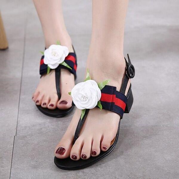 Frauensandalen flachem absatz flip-flops schwarz Rosa weiß komfortabel simil     40abc1