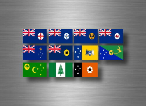 Flag sheet sticker labels country subdivisions states province  australia