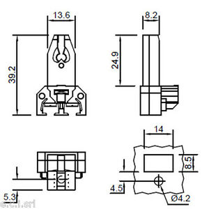 9264 Portalampade per lampade fluorescenti COPPIA G13