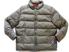 New Tommy Hilfiger Nylon Olive Green Down Alternative Puffer Jacket sz XL