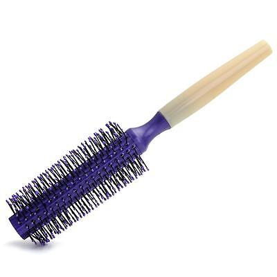 Round Hair Care Brush Hairbrush Salon Styling Dressing Curling Comb Purple