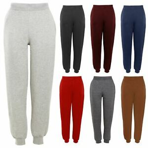 Kids Boys Girls Joggers Pants Jogging Trackie Bottom Polaire Casual Trouser 2-12y