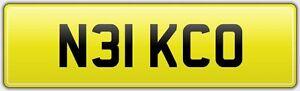 N31-KCO-OLD-CAR-REG-NUMBER-PLATE-FEES-INCLUDED-NICKO-NICKY-NICHOLAS-NIKKO-NICK