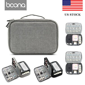 Baona-Electronic-Accessories-Cable-USB-Drive-Organizer-Bag-Travel-Insert-Case-US