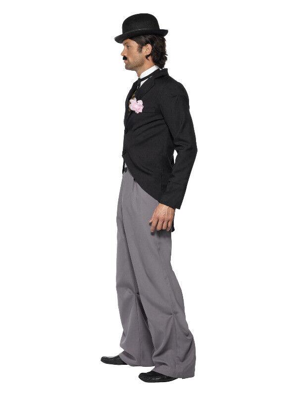 Men's Adults Fancy dress 1920s Star Carlie Chaplin Costume Suit