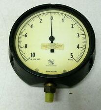 New Vintage Huge Ashcroft Compound Gauge 10 Vac 5 Psi 6 Dial 14 Steampunk