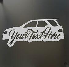 Wagon lowered sticker custom text Subaru WRX STI Legacy low car window decal
