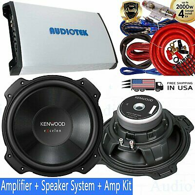 Car Audio Audiotek AT940S 2 Channel Class A/B 2 Ohm Stable 3000W ...