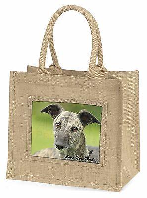 Lurcher Hund 'Liebe dich Papa' Große Natürliche Jute-einkaufstasche Weihnachten,