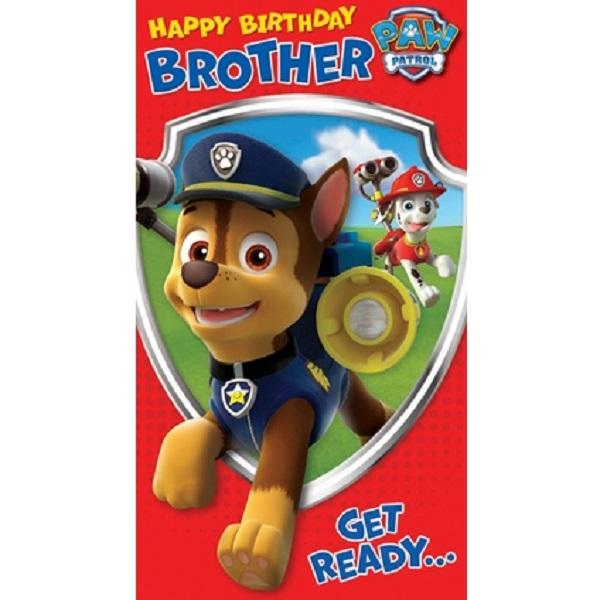 Paw Patrol Some Brother Birthday Card PA003