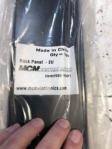 """Rack Panel Accessory Blank 2U Space for 19"""" Rackmount Heavy-Duty Gauge Steel"""
