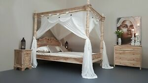 CANOPY-DELUXE-Muslin-Mosquito-Net-for-Four-Poster-Bed-King-Queen-Double-KSingle