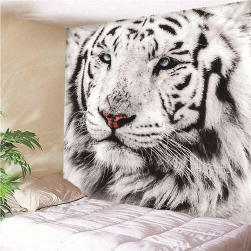 Melancholy and sad tiger3D Wall Hang Cloth Tapestry Fabric Decorations Decor