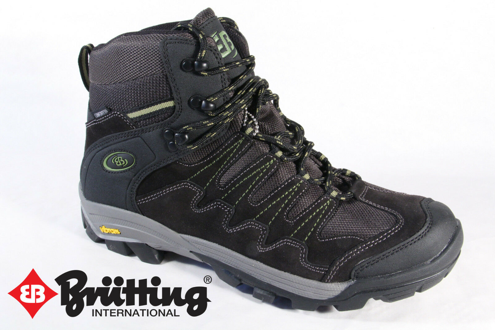 Brütting Hiking Boots Boots Real Leather Waterproof Black 221097 New