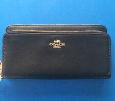 Super Smart /practical COACH ~ Black Leather Wallet : 2 Tiny Faint Scratches