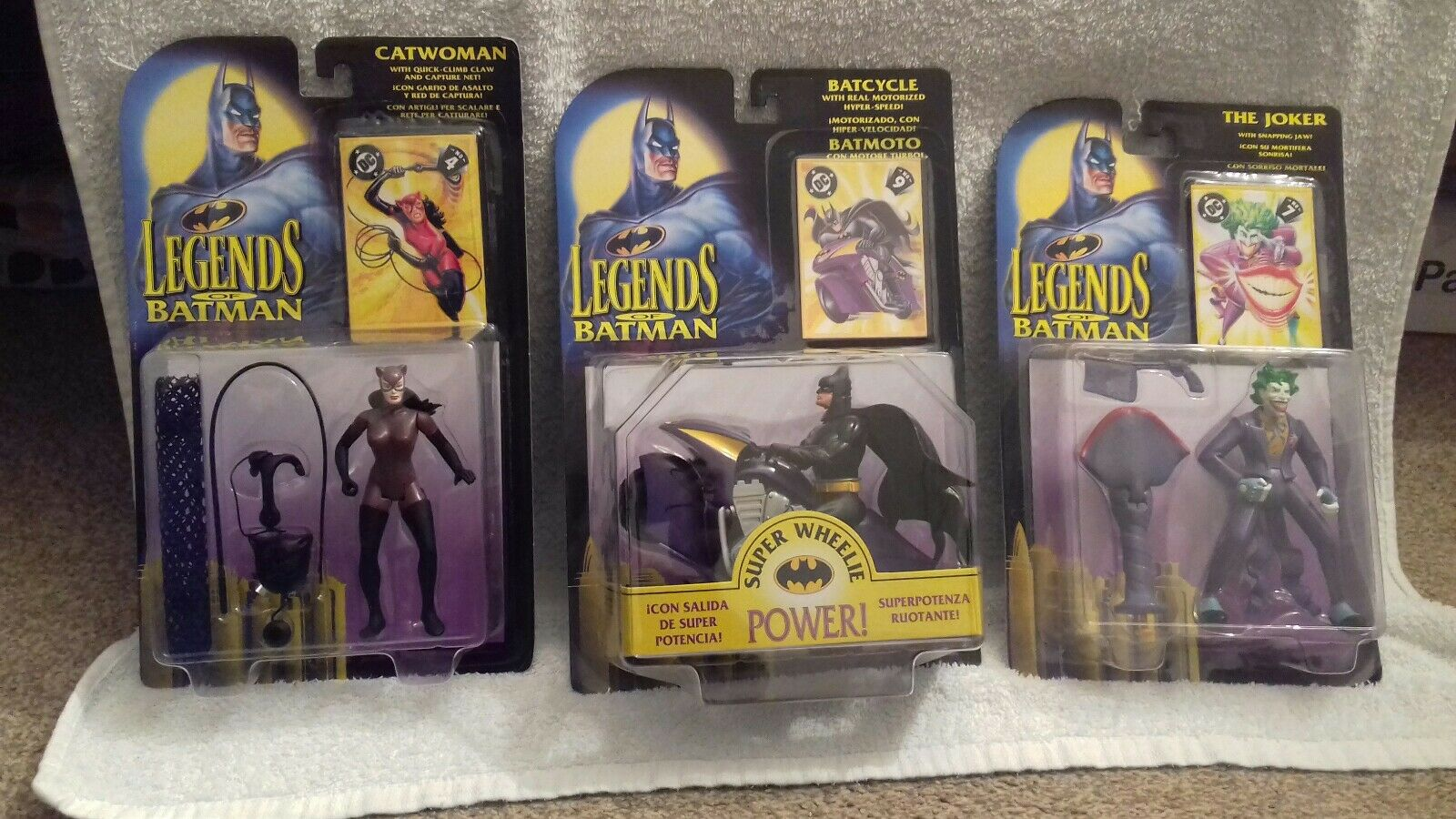 Set of 3 Kenner Legends Of Batman figures
