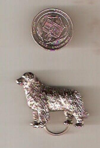 Newfoundland Newf Dog Nickel Silver Eyeglass Holder Pin Jewelry