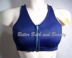 41b32243aa Hanes G469 HC32 Wire Free Zip Front Vented Back Sports Bra SMALL ...