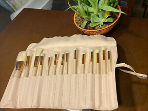 colourpop ultimate makeup 14 brush set with roll up case