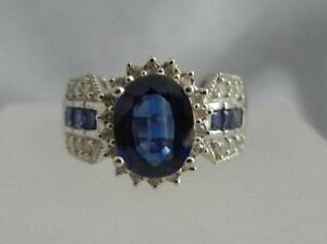 Man made sapphire and diamond ring in 14k yellow gold for Man made sapphire jewelry