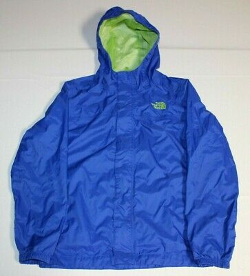 Boys The North Face Zipline Hyvent Rain Hoodie Jacket Medium 10 12 Blue AQRC | eBay