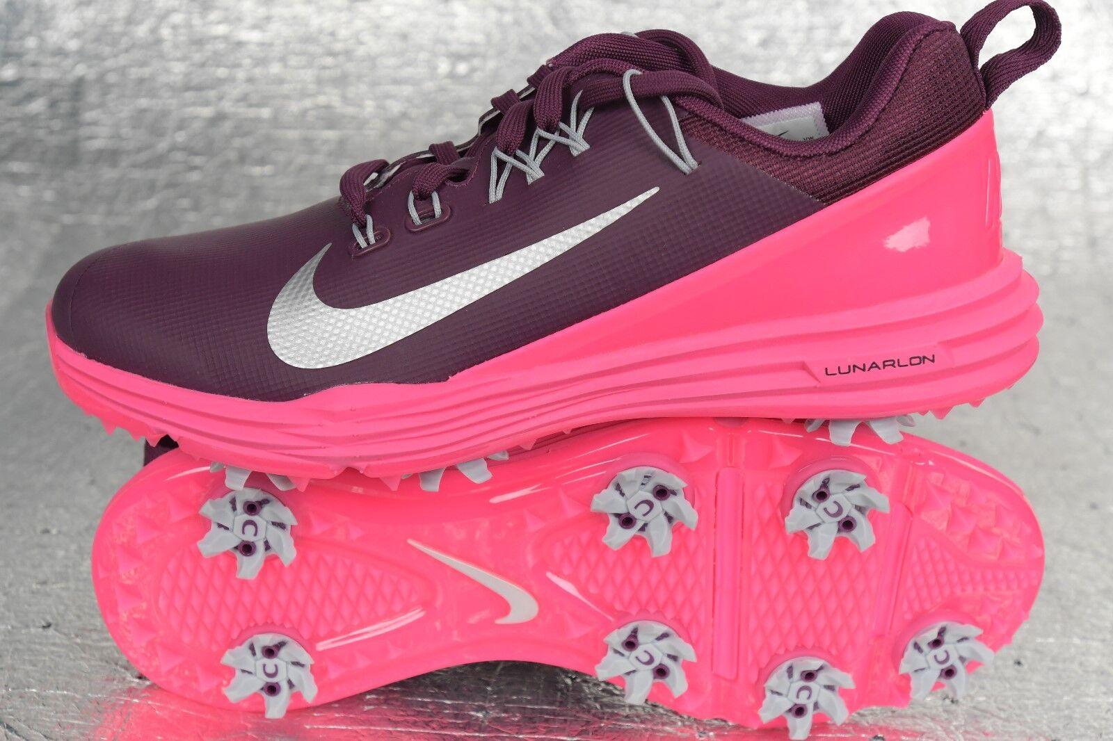 6e18732fb85335 Nike Women s Lunar Command 2 Golf Shoes Size 6 Pink Bordeaux 880120 ...